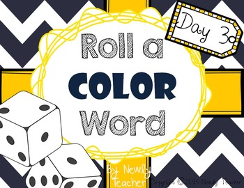 Roll A Color Word