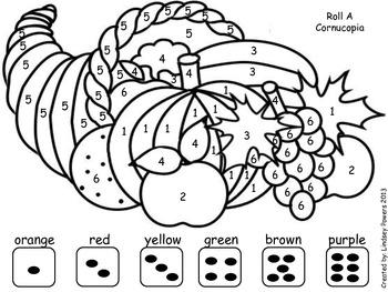 Roll A Cornucopia: Thanksgiving Math Fun