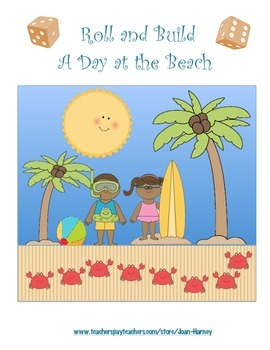 Roll A Day at the Beach: 16 Games for Number Recognition a