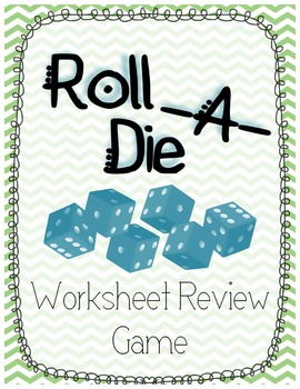 Roll A Die Worksheet Game