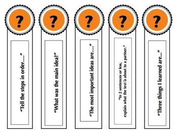 Reading Comprehension Strategies & Question Stems (For Any Text)