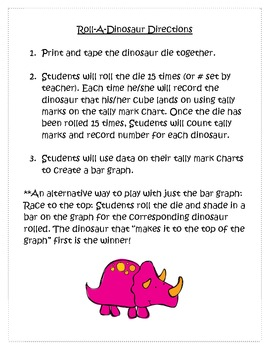 Roll A Dinosaur Tally Mark & Graphing Center
