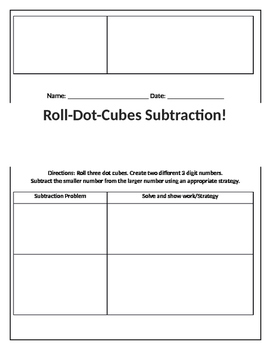 Roll-A-Dot-Cube Addition and Subtraction