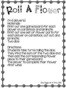 Addition Fact Math Game