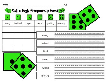Roll A High Frequency Word - Unit 5