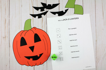 Roll A Jack-O-Lantern Game - Halloween Dice Game And Craft