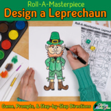 Saint Patrick's Day Drawing Game: Design a Leprechaun Art Sub Plans & Art Lesson