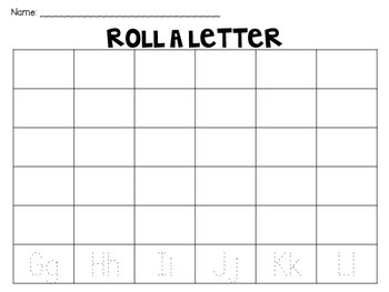 Roll-A-Letter