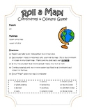 Roll-A-Map Continents and Oceans Game (SOL USI.2a)