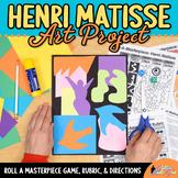 Henri Matisse Art History Game - Art Sub Plans - Art Lesson