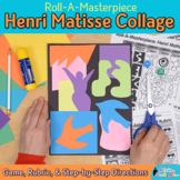 Art Lesson: Henri Matisse Art History Game, Art Sub Plans for Collage Project