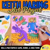 Art Lesson: Keith Haring Art History Game | Art Sub Plans for Teachers