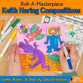 Art Lesson: Keith Haring Art History Game & Art Sub Plans for Teachers