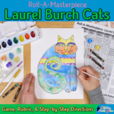 Art Lesson: Laurel Burch Art History Game & Art Sub Plans for Teachers