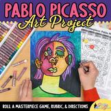 Art Project: Pablo Picasso Portraits Art Game, Art Sub Plans, & Assessments