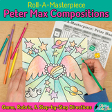 Art Lesson: Peter Max Art History Game & Art Sub Plans for Teachers