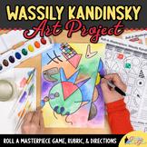 Art Lesson: Wassily Kandinsky Art History Game & Art Sub Plans for Teachers