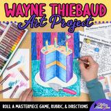 Art Lesson: Wayne Thiebaud Art History Game | Art Sub Plans for Teachers