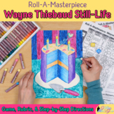 Art Lesson: Wayne Thiebaud Art History Game & Art Sub Plans for Teachers
