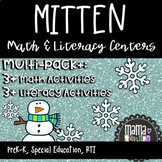 Math and Literacy Centers for Pre-K, Preschool and Kindergarten, Mitten Theme