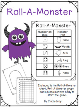 Roll-A-Monster ~ Graphing Activity