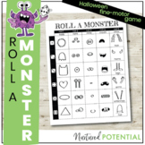 Roll A Monster Game - Fine Motor Activity, Halloween Party