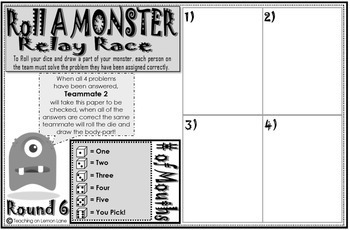 Roll A Monster Review Roll Dice and Draw Game ** Editable ** Any Subject