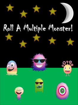 Roll A Multiple Monster! A Math and Art Project to Practice Multiplying or LCMs!