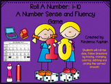 Roll A Number 1-10 Number Sense and Fluency Game