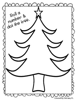 Roll A Number & Dot The Tree: Christmas Math Activity