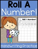 Roll A Number - Handwriting Practice