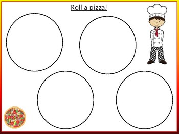 Roll A Pizza Game - Teaching Whole, Halves and Quarters