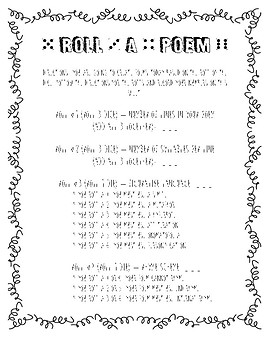 Roll-A-Poem Poetry Activity