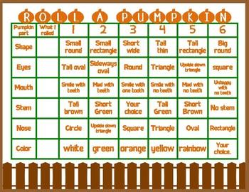 Roll A Pumpkin: Dice Center
