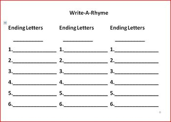 Roll-A-Rhyme 2: Another fun and unique way to practice rhyming and spelling