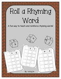 Roll A Rhyming Word