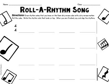 Roll-A-Rhythm Dice Composing
