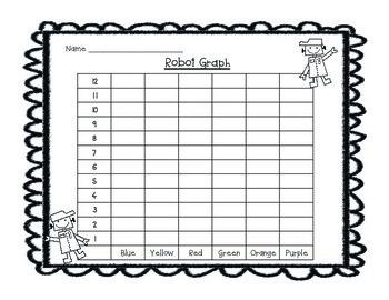 Roll A Robot: Tally Chart & Graphing Center