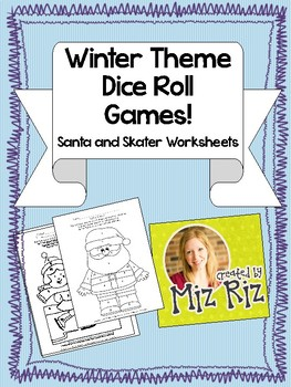 Winter Theme Dice Roll Games- Santa and Ice Skater!