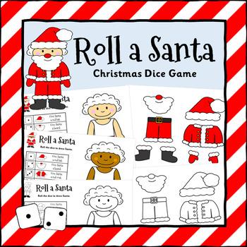 Roll A Santa Dice Game
