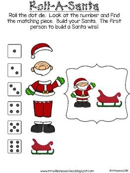 Roll-A-Santa Dice Game {FREEBIE}