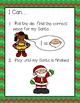 Roll A Santa---Number Word and Ten Frame Game for K-2