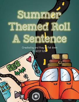 Roll A Sentence - Summer Themed