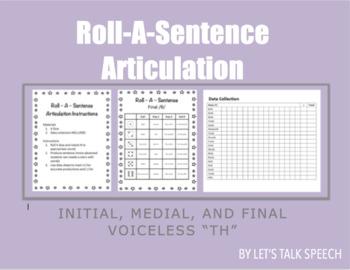 """Roll-A-Sentence Voiceless """"th"""" Articulation"""