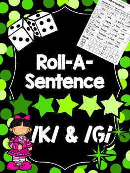 Roll-A-Sentence /k/ & /g/ - Articulation Printables for Sentence Level Speech Tx