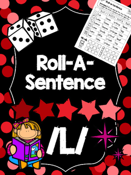 Roll-A-Sentence /l/ - Articulation Printables for Sentence
