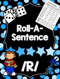 Roll-A-Sentence /r/ - Articulation Printables for Sentence Level - Speech Tx