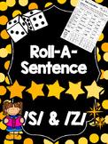 Roll-A-Sentence /s/ & /z/ - Articulation Printables for Sentence Lvl - Speech Tx