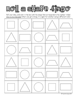 Roll A Shape Bingo