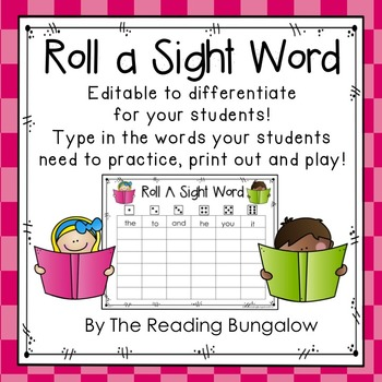 photo about Printable Sight Word Games called Roll A Sight Phrase EDITABLE!!! Freebie